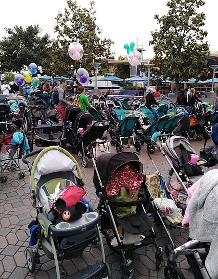 Stroller Parking at Disneyland